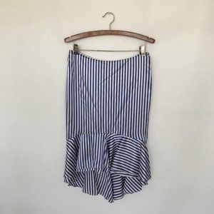 Ralph Lauren Asymmetrical Striped Silk Skirt Sz 4
